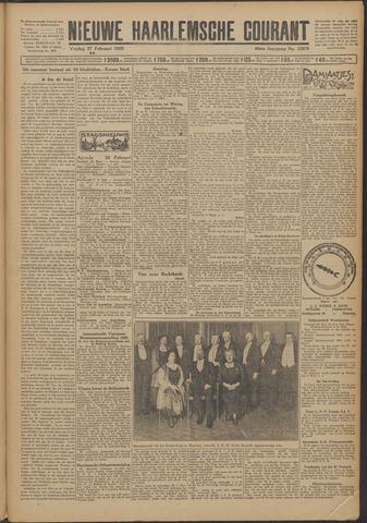 Nieuwe Haarlemsche Courant 1925-02-27
