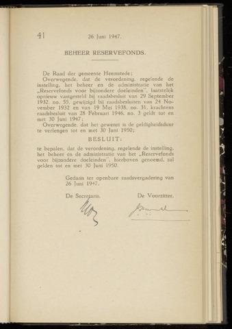 Raadsnotulen Heemstede 1947-06-26
