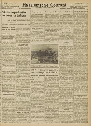 Haarlemsche Courant 1942-09-05
