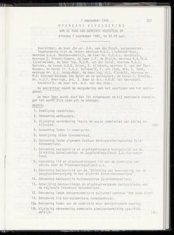 Raadsnotulen Heemstede 1982-09-07