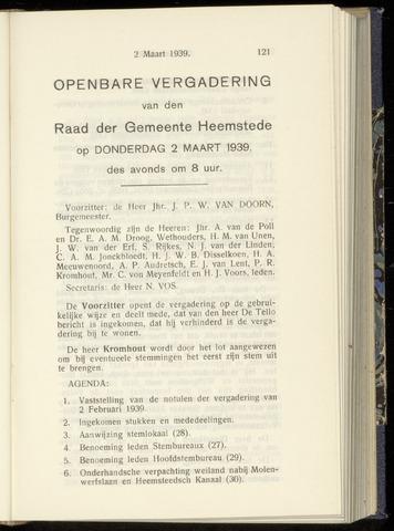 Raadsnotulen Heemstede 1939-03-02