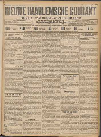 Nieuwe Haarlemsche Courant 1912-11-06