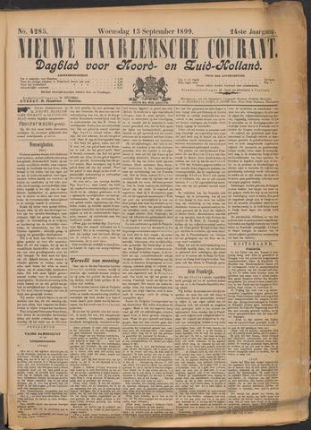 Nieuwe Haarlemsche Courant 1899-09-13