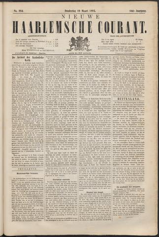 Nieuwe Haarlemsche Courant 1885-03-19