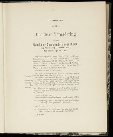 Raadsnotulen Heemstede 1918-03-27