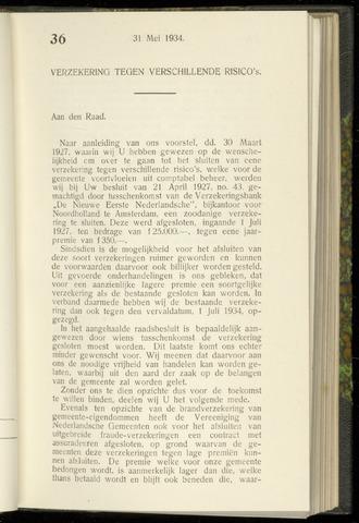 Raadsnotulen Heemstede 1934-05-31