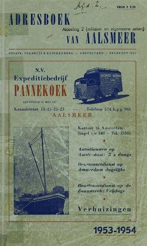 Adresboeken Aalsmeer 1953
