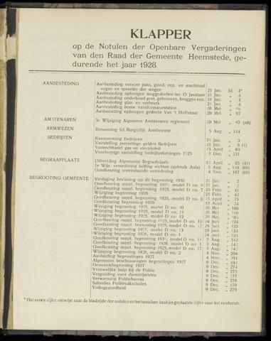 Raadsnotulen Heemstede 1926-01-01