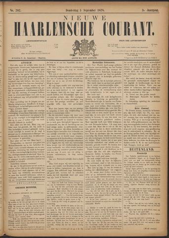Nieuwe Haarlemsche Courant 1878-09-05