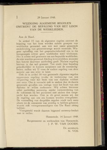 Raadsnotulen Heemstede 1948-01-29