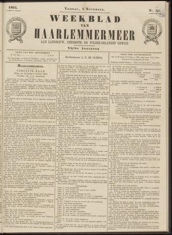 Weekblad van Haarlemmermeer 1864-11-04