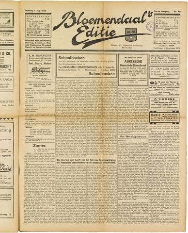 Bloemendaal's Editie 1928-08-04