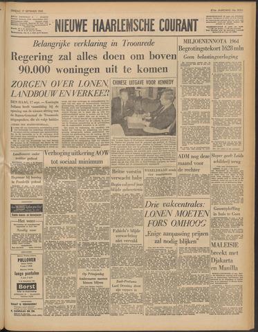 Nieuwe Haarlemsche Courant 1963-09-17