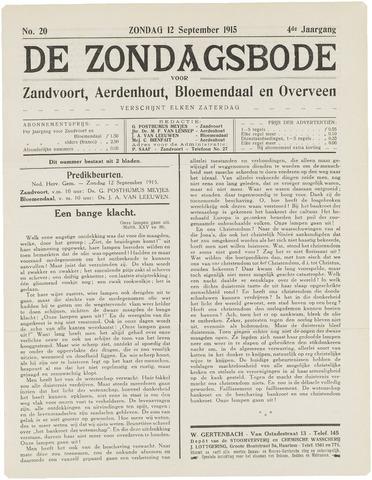 De Zondagsbode voor Zandvoort en Aerdenhout 1915-09-12