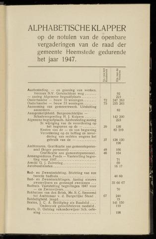 Raadsnotulen Heemstede 1947