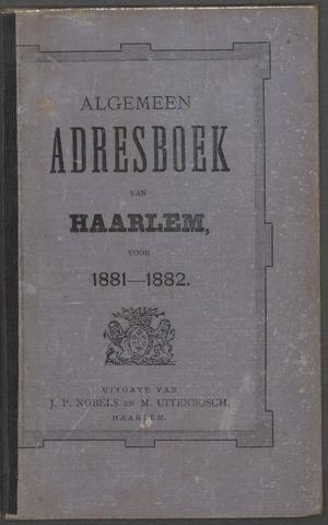 Adresboeken Haarlem 1881