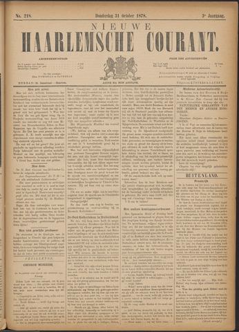Nieuwe Haarlemsche Courant 1878-10-31