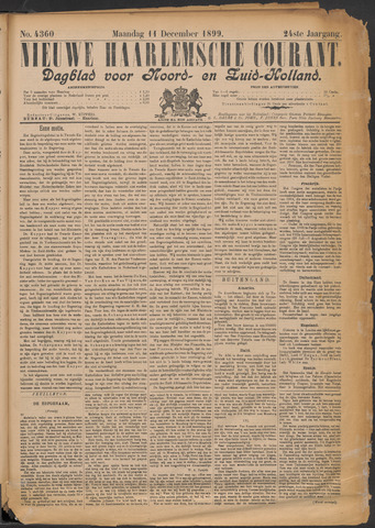 Nieuwe Haarlemsche Courant 1899-12-11