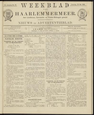Weekblad van Haarlemmermeer 1886-05-29