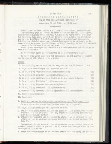 Raadsnotulen Heemstede 1978-05-25