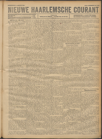 Nieuwe Haarlemsche Courant 1921-01-13