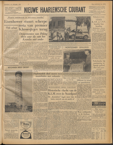 Nieuwe Haarlemsche Courant 1958-09-22