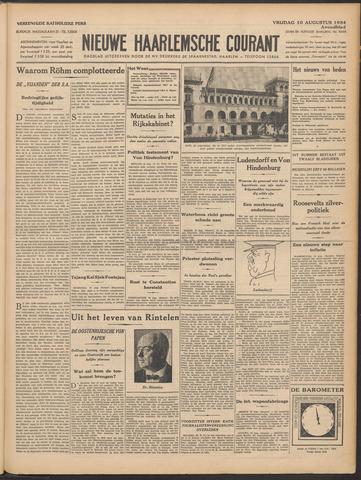 Nieuwe Haarlemsche Courant 1934-08-10
