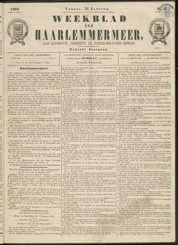 Weekblad van Haarlemmermeer 1868-01-31