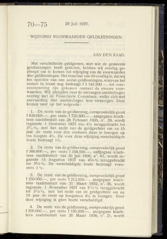Raadsnotulen Heemstede 1937-07-29