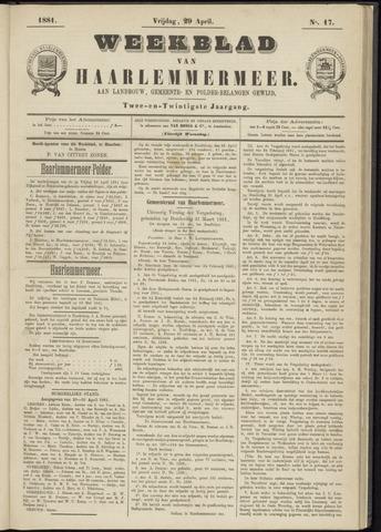 Weekblad van Haarlemmermeer 1881-04-29