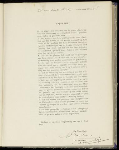 Raadsnotulen Heemstede 1911-04-06
