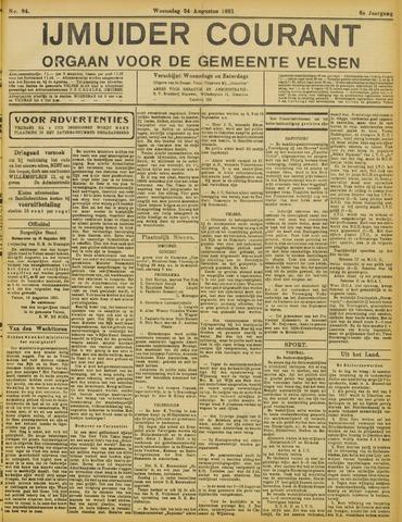 IJmuider Courant 1921-08-24