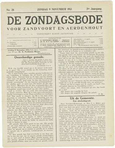De Zondagsbode voor Zandvoort en Aerdenhout 1913-11-09
