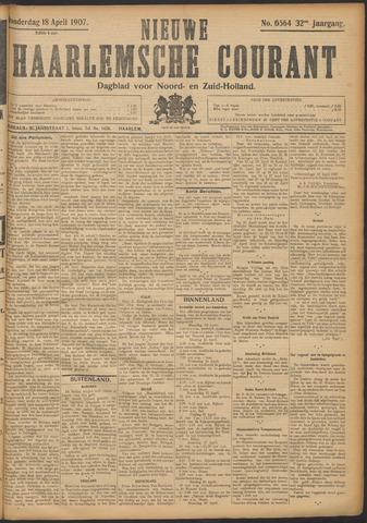 Nieuwe Haarlemsche Courant 1907-04-18