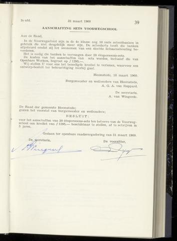 Raadsnotulen Heemstede 1960-03-31