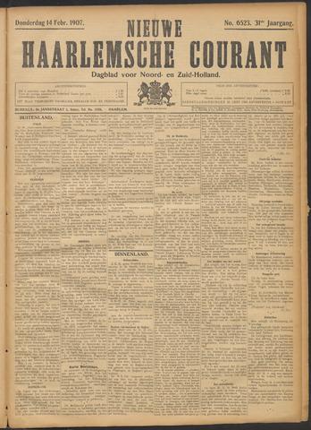 Nieuwe Haarlemsche Courant 1907-02-14