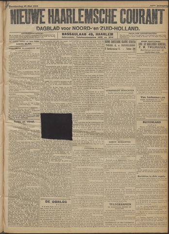 Nieuwe Haarlemsche Courant 1916-05-25