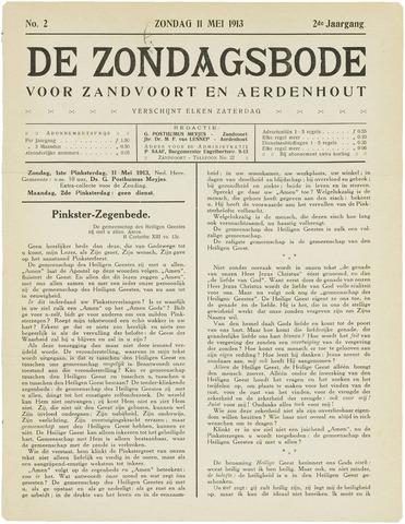 De Zondagsbode voor Zandvoort en Aerdenhout 1913-05-11