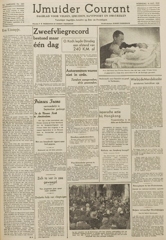 IJmuider Courant 1939-08-16