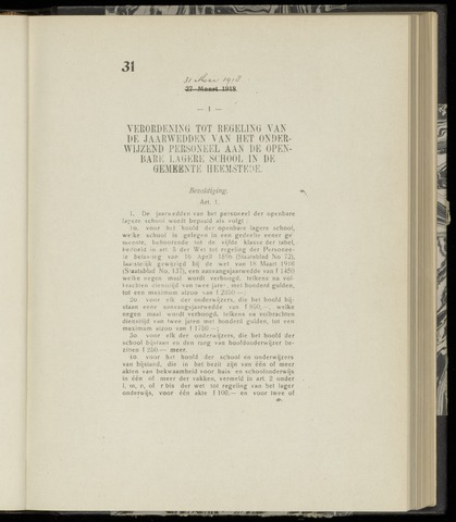 Raadsnotulen Heemstede 1918-05-31