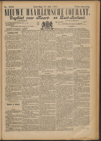 Nieuwe Haarlemsche Courant 1905-07-15