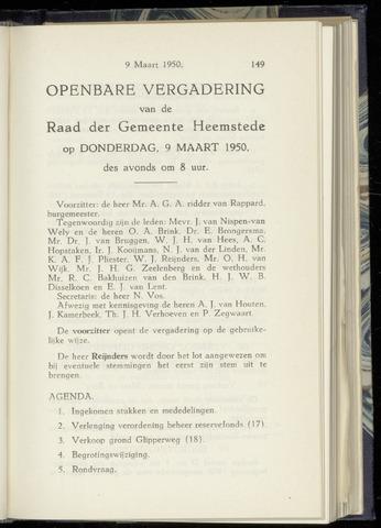 Raadsnotulen Heemstede 1950-03-09