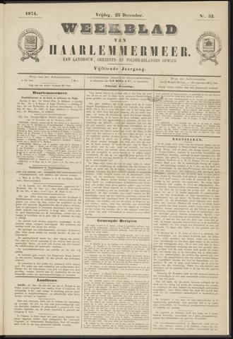 Weekblad van Haarlemmermeer 1874-12-25