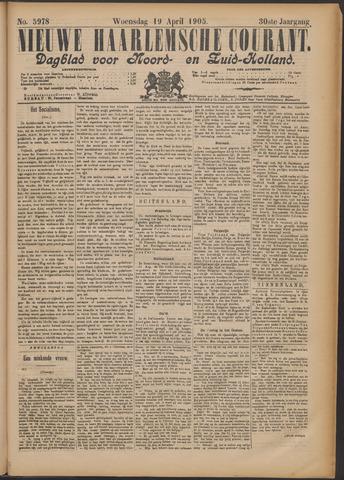 Nieuwe Haarlemsche Courant 1905-04-19