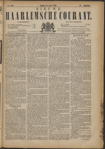 Nieuwe Haarlemsche Courant 1893-04-30