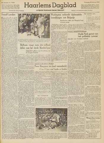Haarlem's Dagblad 1950-02-22