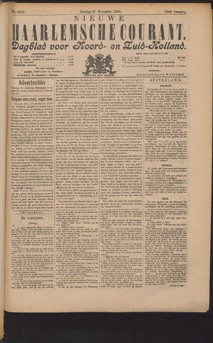 Nieuwe Haarlemsche Courant 1900-11-27