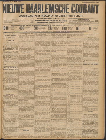 Nieuwe Haarlemsche Courant 1910-10-13