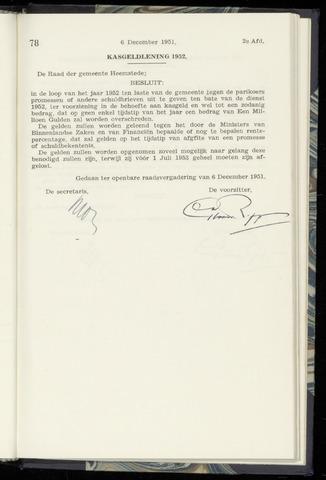 Raadsnotulen Heemstede 1951-12-06