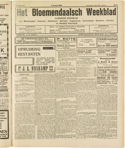 Het Bloemendaalsch Weekblad 1933